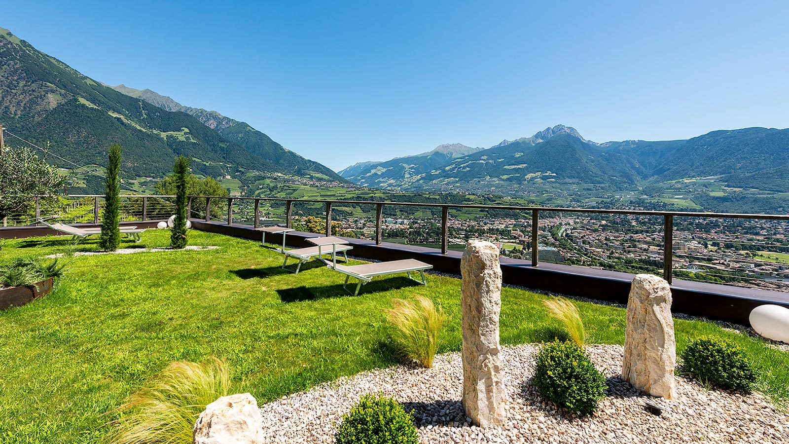View of the city of Merano from the Residence Aqualis
