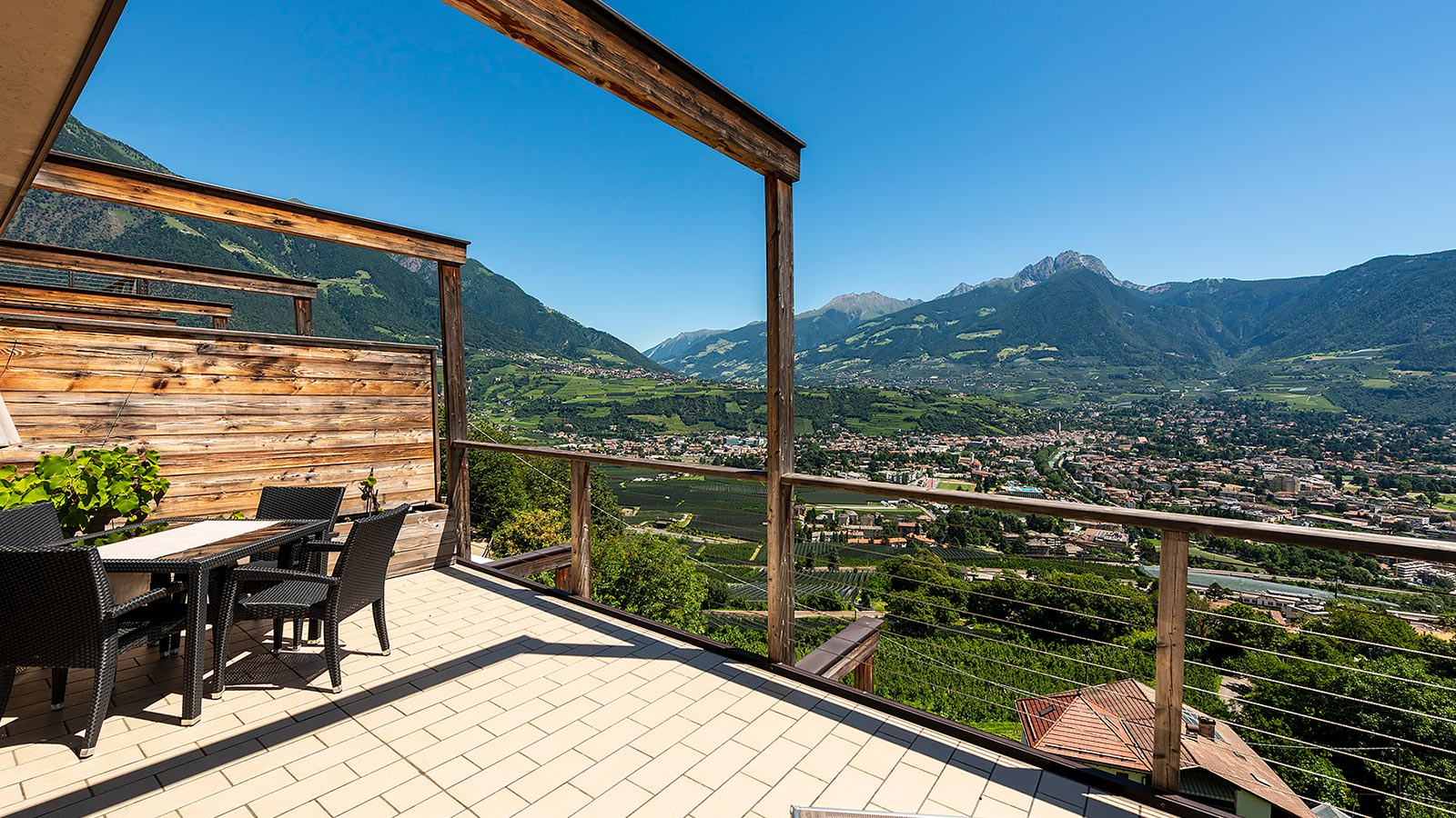 The terrace of Aqualis , your accommodation near Merano