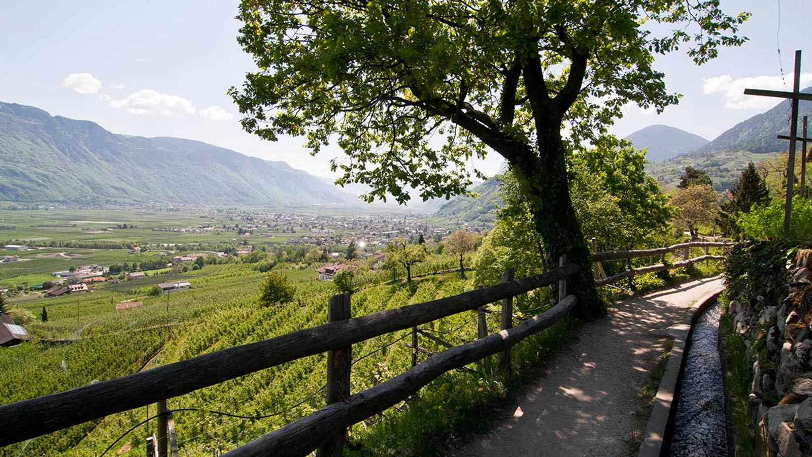 Trail with a view of Merano